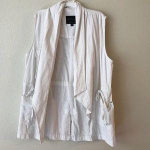White linen vest